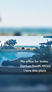 My office for today... Durban South Africa I love this place