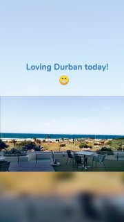 Loving Durban today! 😁